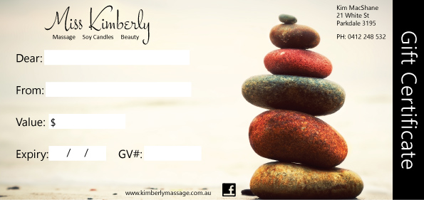 parkdale massage gift voucher
